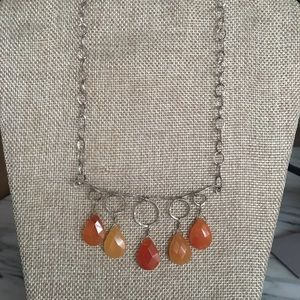 Jewelry - Handmade sterling silver and chalcedony necklace